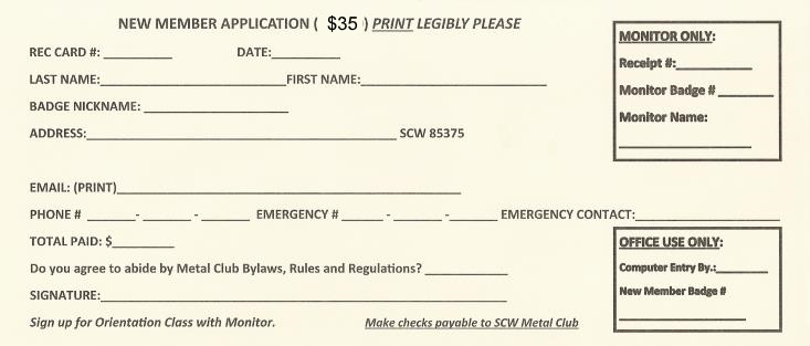 Membership Application Form Image