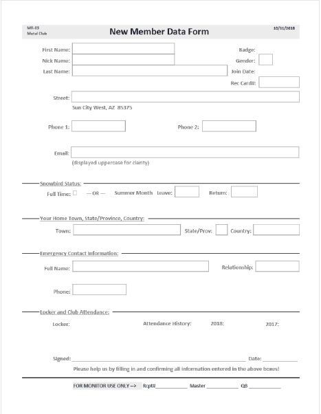 Membership Renewal Form Image